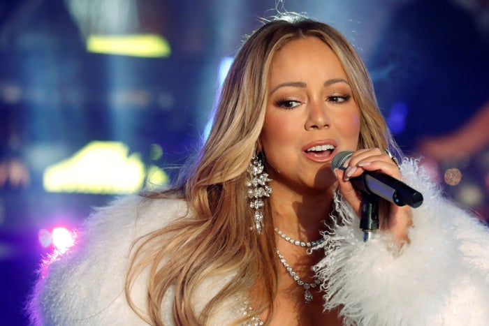 Mariah Carey performs during the New Year's Eve celebrations in Times Square in New York City, 2017.