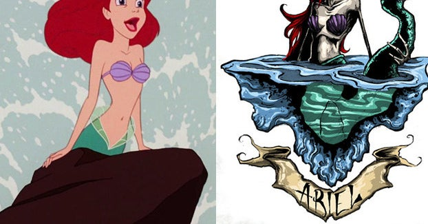 This Dad's Disney Princess Illustrations Are Both Haunting And Beautiful