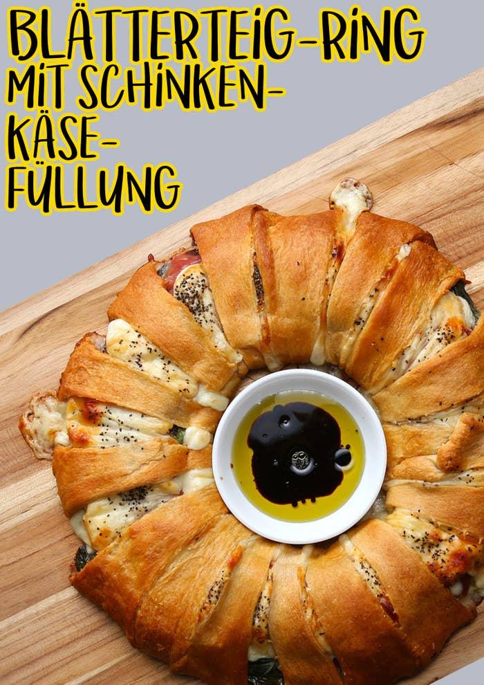 Diesen Blätterteig Ring Mit Schinken Und Käse Wirst Du Nicht Teilen