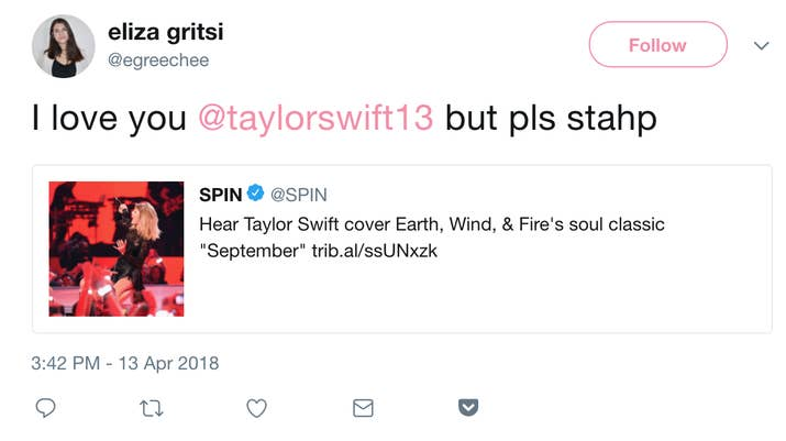 People Are Refusing To Listen To Taylor Swifts Cover Of Earth Wind