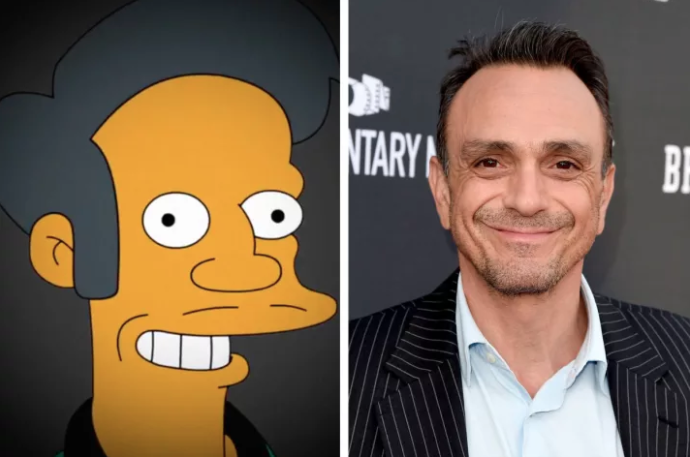Apu is voiced by actor Hank Azaria.