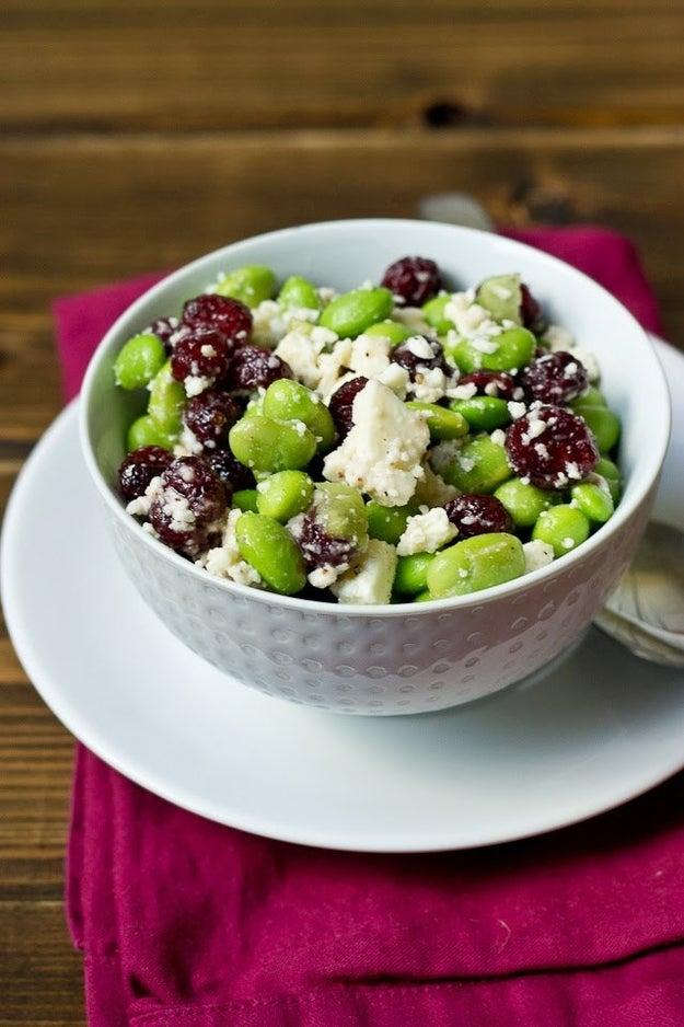 Edamame, Cranberry, and Feta Salad