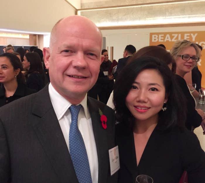 William Hague with Hillary Su
