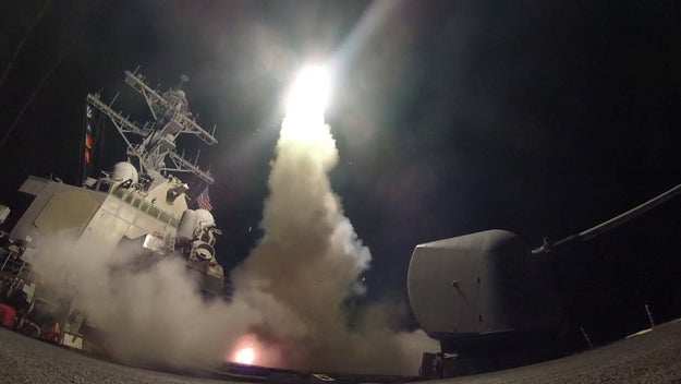 FWIW, this is the second time Trump has bombed Syria in retaliation against the use of chemical weapons during his presidency.