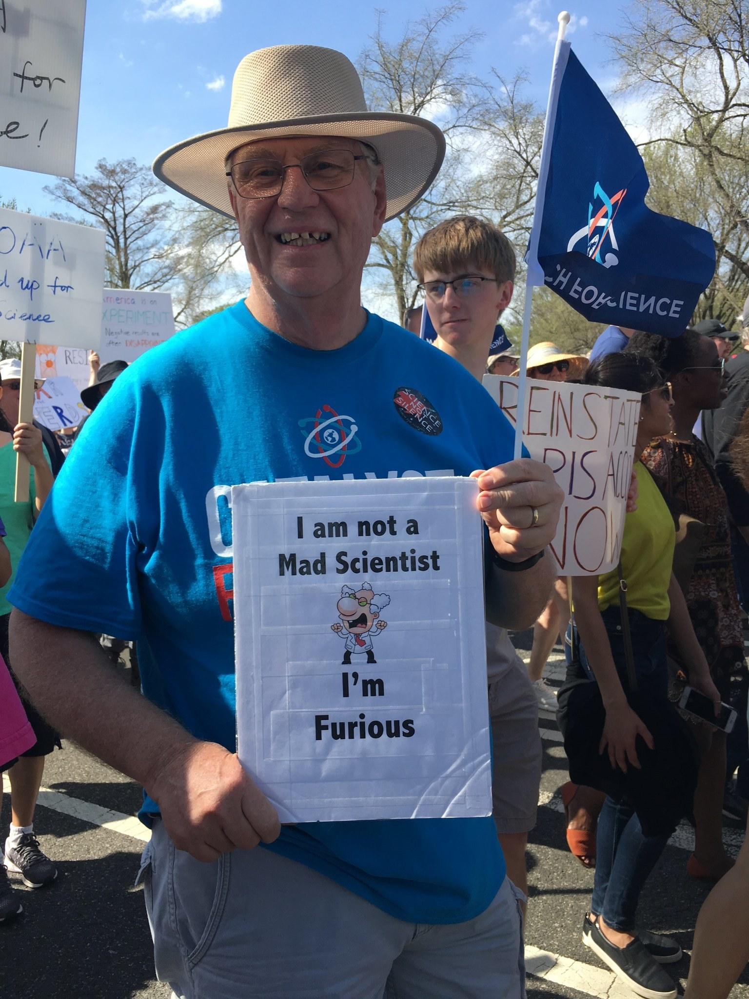 Here Are The Best, Most Wonderfully Nerdy Signs From The March For Science 2018