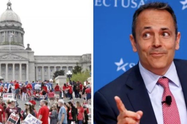 Kentucky's Governor Blamed Protesting Teachers For Kids Getting Sexually Assaulted At Home And Trying Drugs