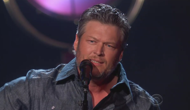 "Blake looked damn near perfect as he performed his song ""I Lived It."""