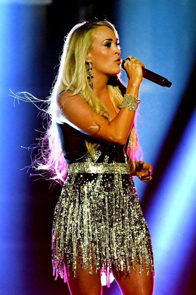 She sang flawlessly while looking flawless.