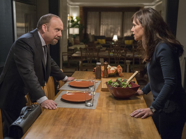 Chuck and Wendy Rhoades (Maggie Siff) at the start of Season 2.