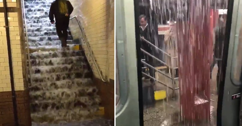 It's Raining So Hard In NYC It's Pouring Into The Subways. New Yorkers Are More Miserable Than Ever, I'm Told