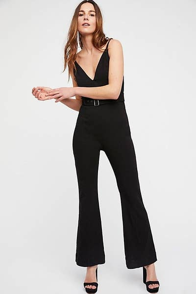 63e426d035 A belted-waist jumpsuit with a slightly flared leg to lend your look some  charming retro vibes. (Seriously