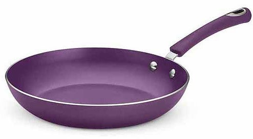 A purple non-stick aluminum pan you'll fall in love with, and then go buy four more of the same brand.