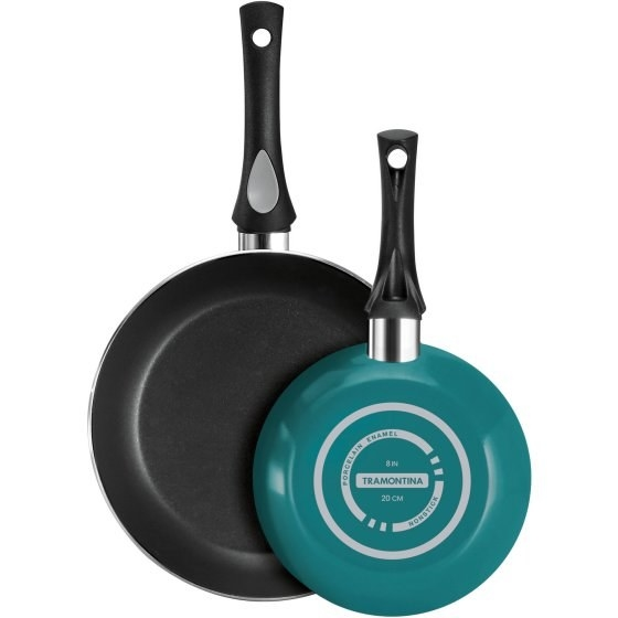 "A set of two aluminum frying pans (8"" and 10"") for anyone in need of a lightweight, dishwasher-safe way to make dinner."