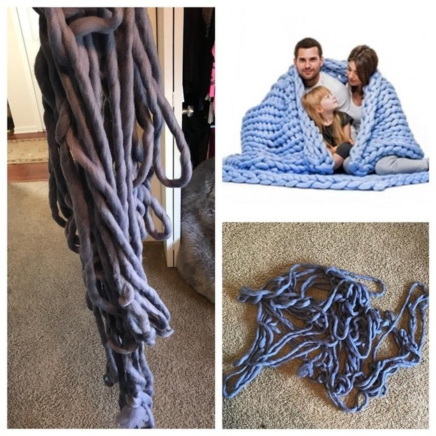 Or a blanket made of old rope: