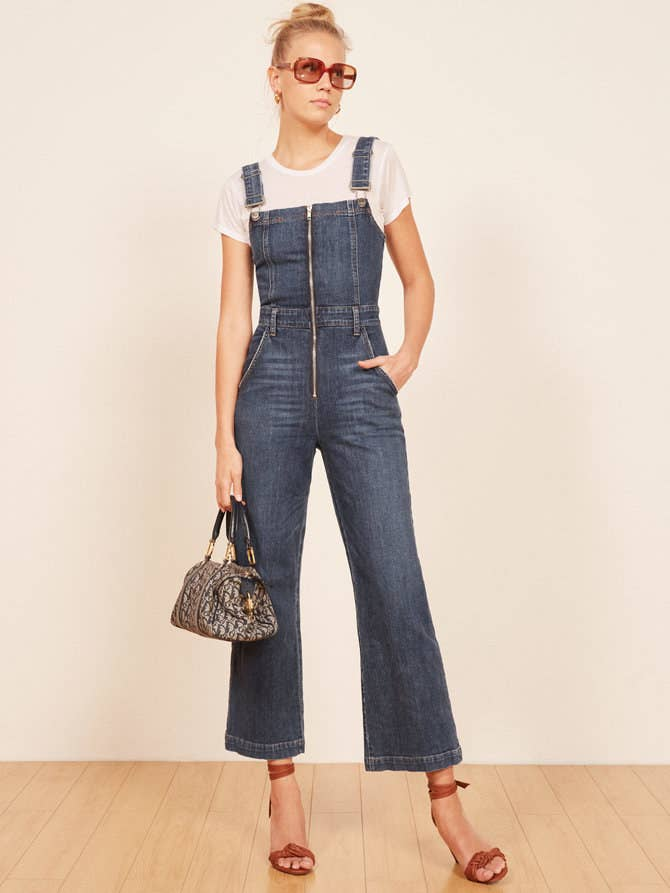 5c7f3e3b379 And a pair of zip-front denim overalls to transport you back to the  70s  (the glamorous parts