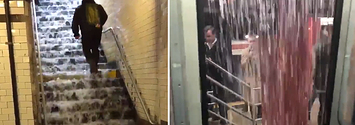 It's Raining So Hard In New York City It's Pouring Into The Subways And People Are More Miserable Than Ever