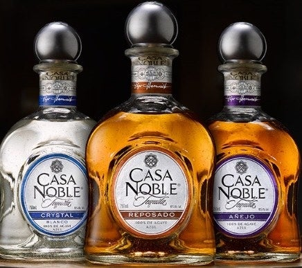 From the clean, crisp taste of the Blanco tequila to the Reposados that have been aged for 364 days in French white oak barrels to the two-year-old Anejo that exudes the complex aromas of dried fruits and spice complemented by flavors of toasted oak, butterscotch, vanilla, and sweet cooked agave, Casa Noble tequila is an absolute classic for all spirit lovers.
