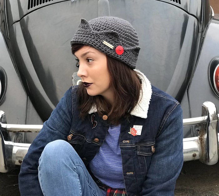 """Promising review: """"I don't generally have good luck with hats without trying them on, but this fits perfectly! I love that it doesn't have a slouchy crown like some Juggy hats I've seen. I've gotten many compliments."""" —Sandra SalamonyGet it from IndyMamaDesigns on Etsy for $25. Check out a similar option from Hot Topic for $16.90."""