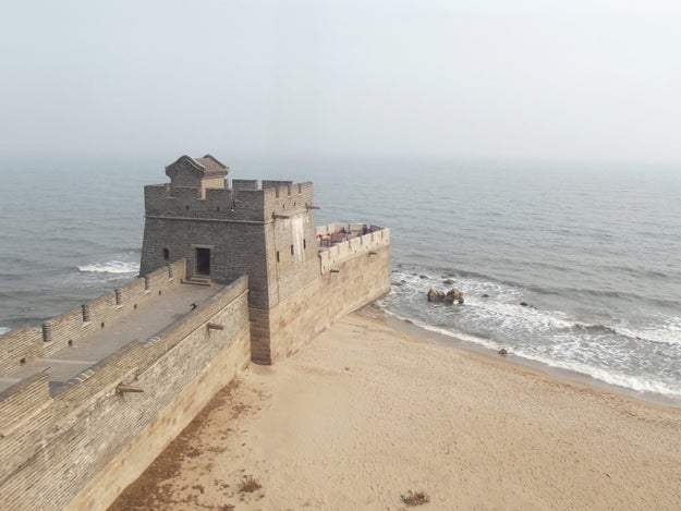Here's where the Great Wall of China finally reaches the ocean: