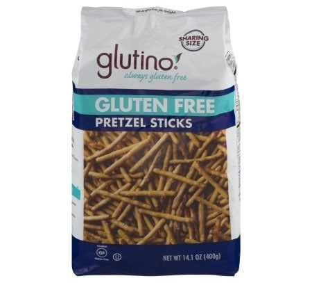 A bag of gluten-free pretzel sticks that truly taste better than regular pretzel sticks, I have tried them and I know the truth, as will you.