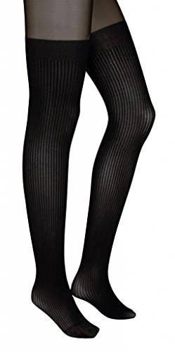 eda487f2ae6d0 Faux thigh-high tights will cause quite the stylish stir.