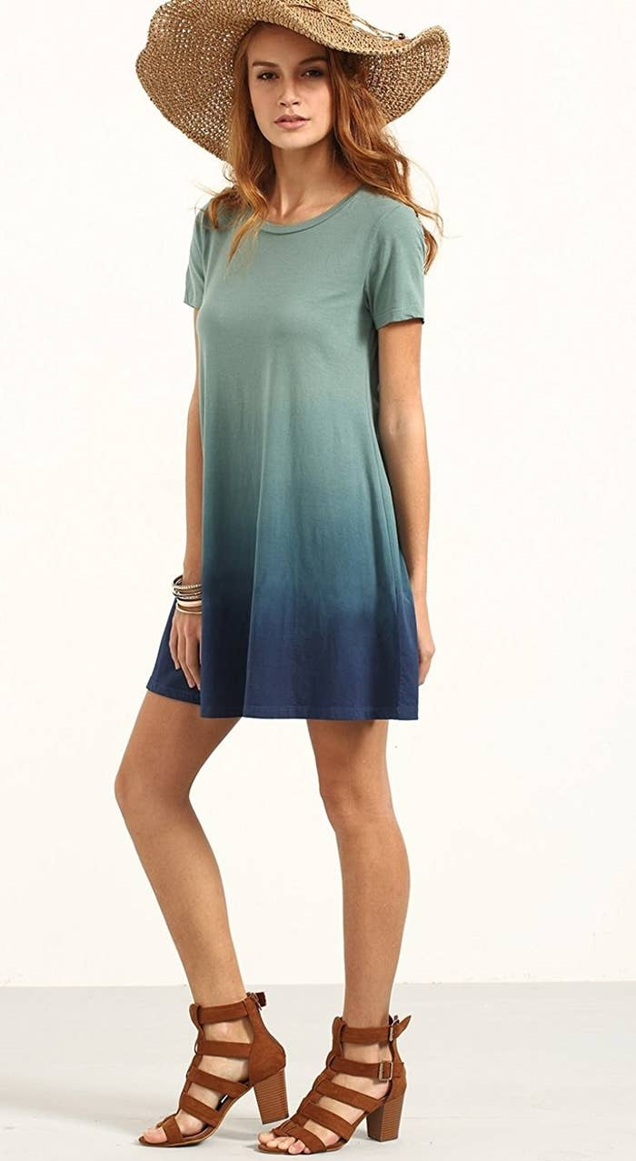 2a06135a64bd An ombre tie-dye dress so comfy, your favorite tee will decide to retire.