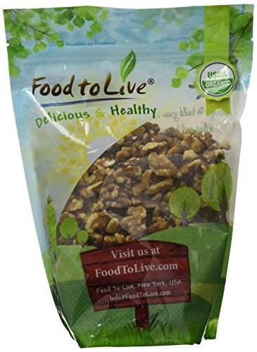 A bag of raw organic walnuts to get some healthy oils in your system during snack time.