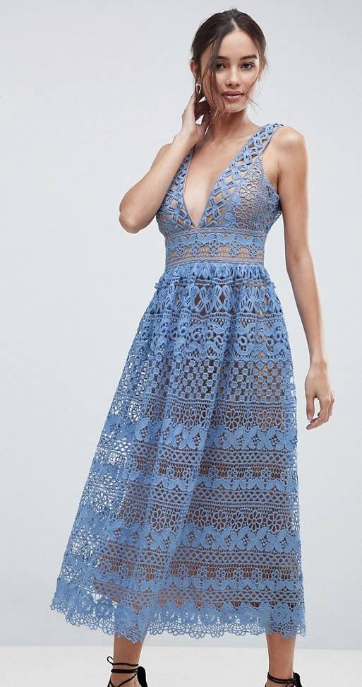 67a8e9b89623 A sultry lace dress I'm amazed didn't come straight off a Paris runway. Get  it from Asos for ...