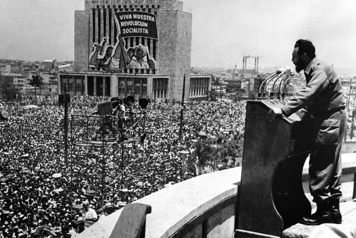 Fidel Castro's speech, on May 1, 1962, at the Plaza de la Revolución in Havana.