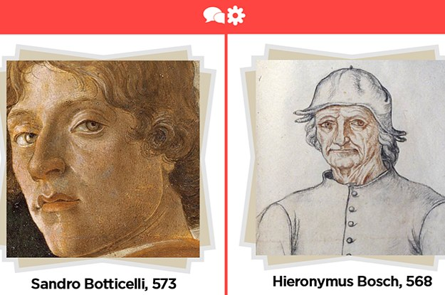 Swipe Left Or Right On These Renaissance Artists And We'll Match You With One Of Them