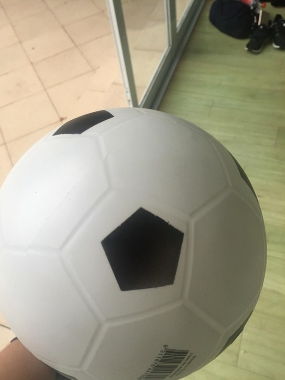 This shy soccer ball: