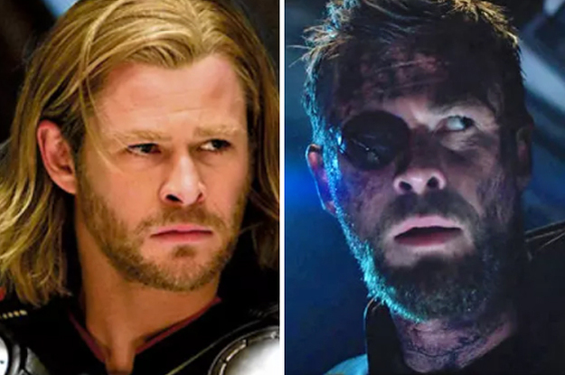 """The """"Avengers"""" Cast In Their First Appearance Vs """"Infinity War"""""""