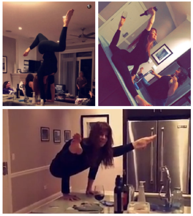 This yogi mom who can really entertain a party: