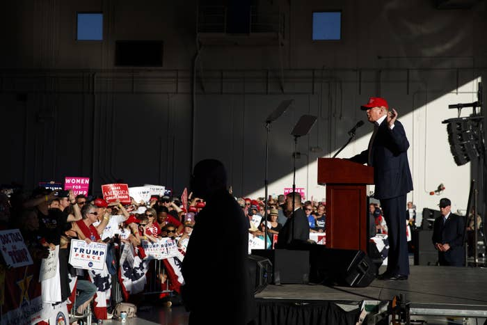 Trump campaigns in Minnesota before Election Day 2016.
