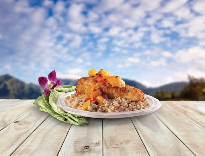 This dish packs the power of three of Hawaii's specialties: fish, macadamia nuts, and pineapple. Find the recipe here.