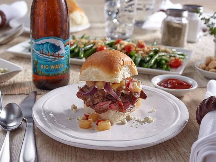 What could be better than a steak slider? A steak slider with hot pineapple relish! Find the recipe here.