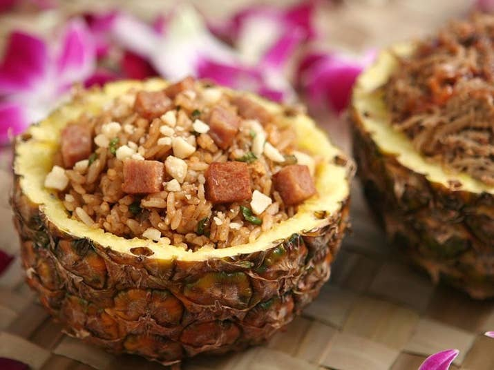 So you're obsessed with pineapple? Take your love to another level by dishing out delicious servings of pork and Hawaiian fried rice in a hollowed-out pineapple. Salty, sour, tangy, sweet. It's a match made in heaven.Find the recipe here.