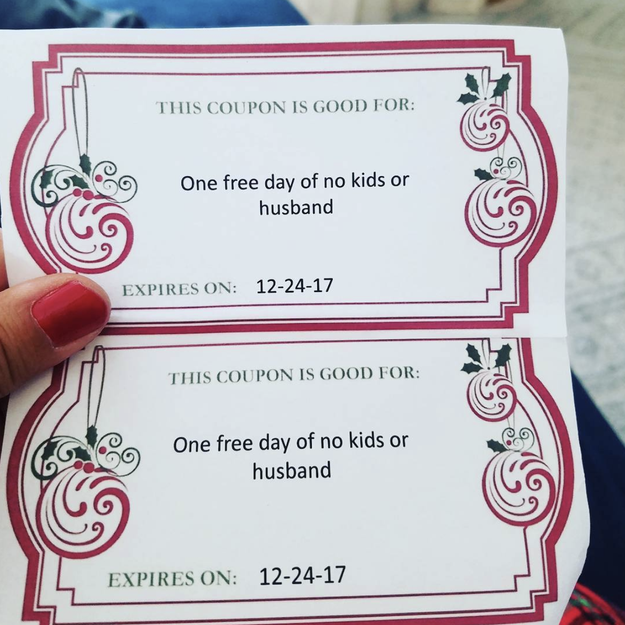 And this husband who gave his wife this hilarious Christmas present: