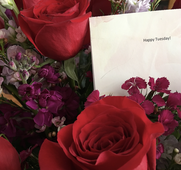 This husband who gave his wife flowers just because it was Tuesday:
