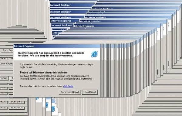 Having Internet Explorer crash on you at least 60% of the time you used it: