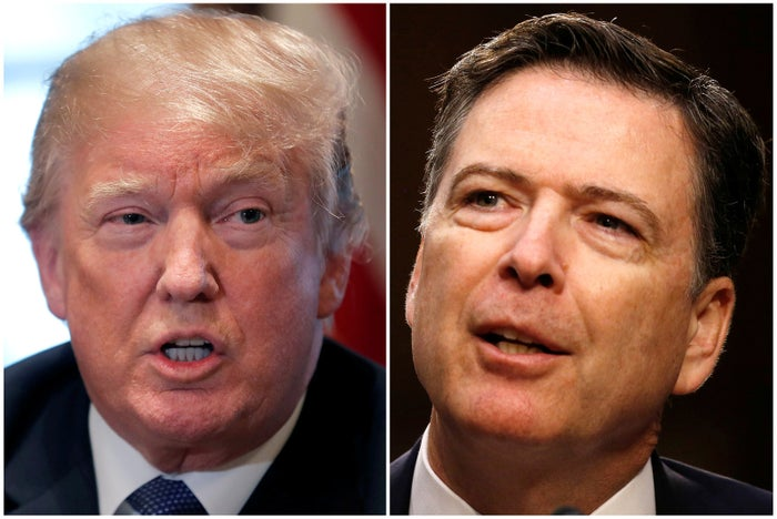 President Trump and James Comey.