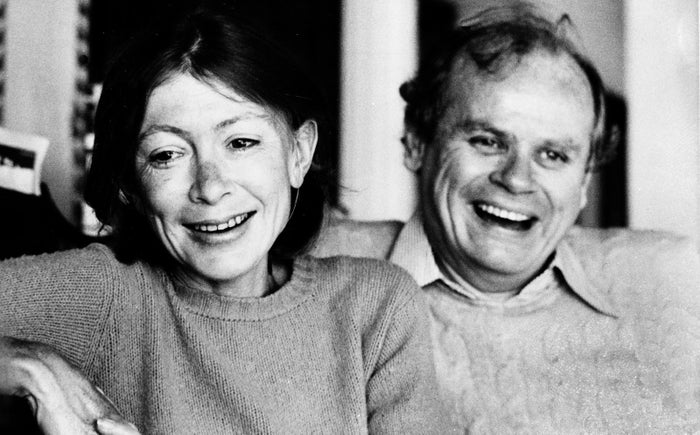 Didion and her husband, John Dunne, 1977.