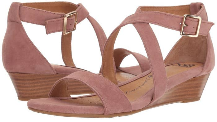 5561c8769 Strappy suede sandals so adorable they may make everyone blush. Promising  review   quot These are casual and stylish. The neutral color will serve