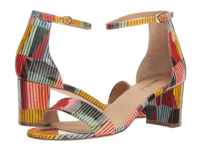 ae842dfe9 Striped heeled sandals that ll totally make a statement.