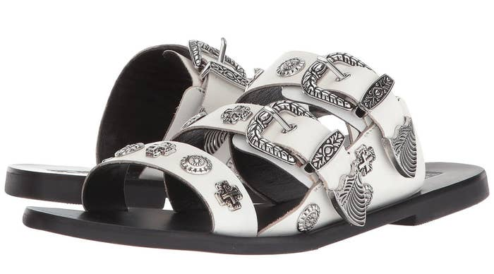 ceecad79e Western-style medallion sandals you ll wish you could find in belt form.