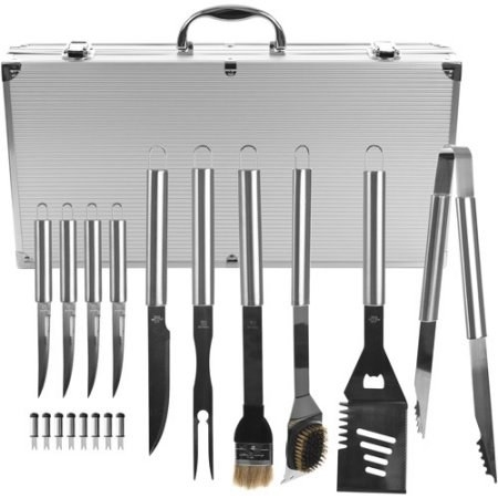 An 18-piece set of grilling accessories to get you started.