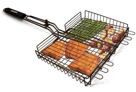 A grilling basket that'll let you cook a whole fancy meal in one grab.
