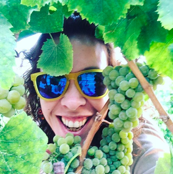 She's a Portugese-born, California-trained winemaker and mom of two young boys.