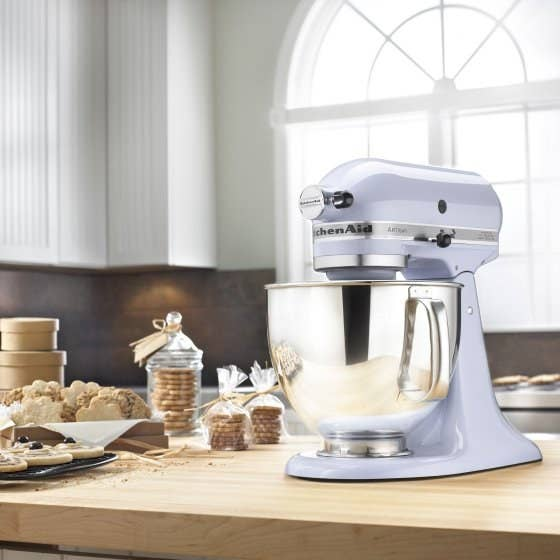 "Plus, everyone who has ever reviewed a KitchenAid mixer is basically in love with it, see below for evidence. Features: 5-quart stainless steel bowl with comfortable handle – enough capacity to mix up to nine dozen cookies, four loaves of bread or seven pounds of mashed potatoes in a single batch. Tilt-head design allows clear access to the bowl and attached accessory, so you can easily add ingredients. Locking the head into place during operation keeps the beater-to-bowl contact close and efficient. Ten speeds, dishwasher-safe bowl. Set includes: coated flat beater, coated dough hook, 6-wire whip, pouring shieldPromising review: ""This awesome little machine is the highlight of my kitchen and by far the best thing I got off of our wedding registry. I've been cooking for years, but this makes it so much easier and gives me so many more options. It's so easy to use (and clean!!!), and has helped me make some of the best pastries I've ever baked. I'll be getting great use of it for years to come, it's definitely an absolute staple."" –BellaGet it from Walmart for $259."