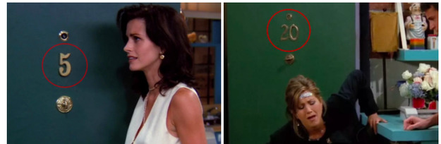The numbers of their apartments changing.